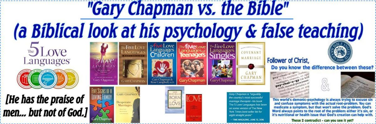 Gary Chapman vs the Bible